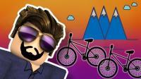小飞象✘Roblox✘自行车模拟器勇气与荣耀爆笑登山挑战自行车不翼而飞 乐高小游戏
