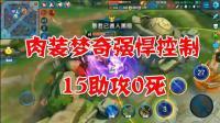 王者荣耀教学视频: 肉装梦奇强悍控制, 15助攻0死全场最佳
