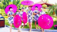 超适合上海小女人跳的古典伞舞! 上砂姐妹广场舞《旗袍美人》原创舞蹈