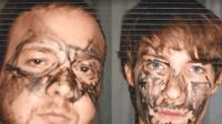历史上有两个蠢贼作茧自缚脸上涂了擦不掉的东西被警察一眼就认出