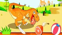 宝宝恐龙世界 侏罗纪公园 第11期 最恐怖的霸王龙 霸王龙的跨栏比赛 陌上千雨