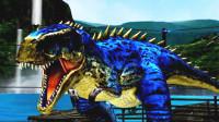 侏罗纪世界游戏 恐龙战争 第107期 疯狂的霸王龙狂扫对手 霸气再现 陌上千雨