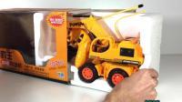 儿童电动挖掘机拆封表演视频