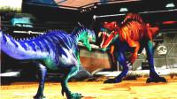 侏罗纪世界游戏 恐龙对战 第110期 恐龙战士先下手为强 陌上千雨