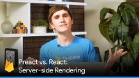 Preact vs. React (Server-side Rendering with JavaScript Frameworks)