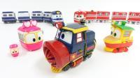 机器人列车变形金刚玩具 火车变身 韩国超人气玩具视频 惊喜玩具 【 俊和他的玩具们 】