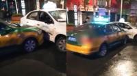 的哥与专车起争执 三次故意猛撞专车