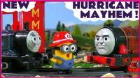 托马斯小火车的消防队警报故事 小黄人麦当劳被邪恶小火车烧着啦 小伶玩具 火影忍者