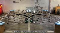 76个风扇绑在一起可以把人带飞, 飞行时长8分钟!