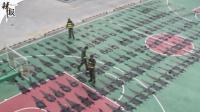 广西查获200多张鳄鱼皮 几乎摆满篮球场