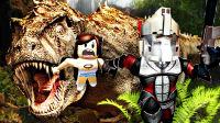 【屌德斯&小熙】 Roblox模拟恐龙猎手 人类里的叛徒居然帮助霸王龙捕食人类!