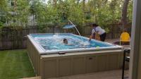 这个游泳池只有10平米, 就算累死也游不到尽头!