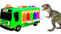 儿童汽车小游戏 蜘蛛侠变形卡车 麦大叔车库不同颜色的车.mp4