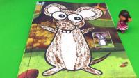 爱探险的朵拉玩小老鼠沙画