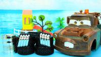 汽车总动员玩具 给大板牙装上汽车轮胎