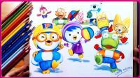 欢乐甜心创意画时间-小企鹅Pororo简笔画教学 手绘创意 亲子手工 小猪佩奇