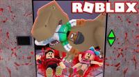 【Roblox普通电梯】侏罗纪公园恐龙出现! 搞笑大头海绵宝宝! 小格解说 乐高小游戏