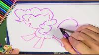 我爱涂画课21 儿童简笔画小马宝莉碧琪