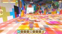迷你世界联机: 黑白跑酷大世界, 色彩魔方房间