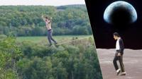 扁带大神绳上MJ太空步 冲浪小伙遭遇15米巨浪