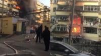 济南一小区疑燃气爆炸 4层玻璃被震碎