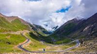 骑车去西藏 五十里下坡-巴郎山