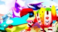 我的世界《神奇宝贝日月游戏秀》幸运方块双开超梦酋雷姆盖欧卡星跳水立方!爆笑MC精灵宝可梦