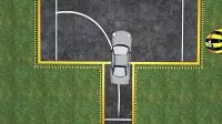 科目二学车右直角转弯倒车入库后视镜判断