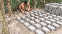 原始技术徒手建房(第三集)自制足够的石灰砖