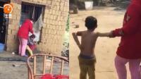 太可怕! 6岁男童贪玩扔东西打中老人, 母亲直接男童打出血!