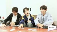 TFboys学玩纸牌游戏, 易烊千玺搞混规则被吓懵, 王俊凯嗨到爆!