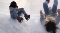 日本少女滑冰跌倒 引网友思考人生