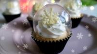 【喵博搬运】【食用系列】超唯美~水晶球圣诞雪花杯子蛋糕ヽ(・ω・。)ノ