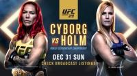 UFC219 机械婆 VS 霍尔姆 梅花香自苦寒来