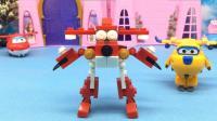 多多拼装超级飞侠乐迪二合体变形积木
