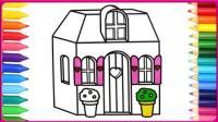 儿童童真彩绘画基础学习画粉粉的公主屋 小伶玩具 扮家家 小猪佩奇 奥特曼