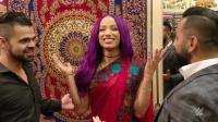 WWE印度现场秀 女老板莎夏和小魔女阿莱克萨 大跳印度舞