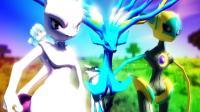我的世界《神奇宝贝传说神兽对决》01超梦梦幻变身绝对零度秒杀一切MEGA!爆笑精灵宝可梦