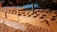 用数控机床加工木头, 比削铁如泥还过瘾