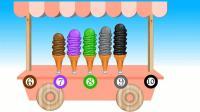 数字冰淇淋的购买数字英语色彩英语玩游戏学英语儿童英语ABC少儿英语ABC