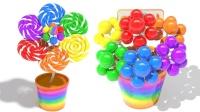 花朵色彩棒棒糖英语花朵英语色彩英语儿童英语ABC少儿英语ABC
