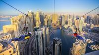 摩天大楼滑索高空飞行 地球最强跑者山脊狂飙