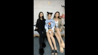 三个可爱的长腿萌妹子拍段子, 好让人喜欢