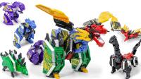 圣兽机守护者 超级恐龙队长5In1组合固体恐龙模式变形金刚合体玩具★垣垣玩具★