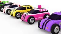 神采飞扬的汽车家族色彩汽车色彩英语汽车总动员儿童英语ABC少儿英语ABC