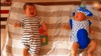 哥哥看见妹妹哭后的反应, 让全家人都笑翻了!