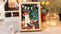 圣诞节粘土相框装饰