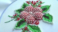 手工刺绣: 漂亮的珍珠网格刺绣, 值得学习