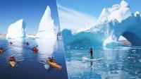 冰雪世界里皮划艇徜徉 治愈系单车速降如诗画