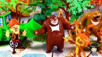 熊出没熊大熊二想办法阻止光头强砍树 01